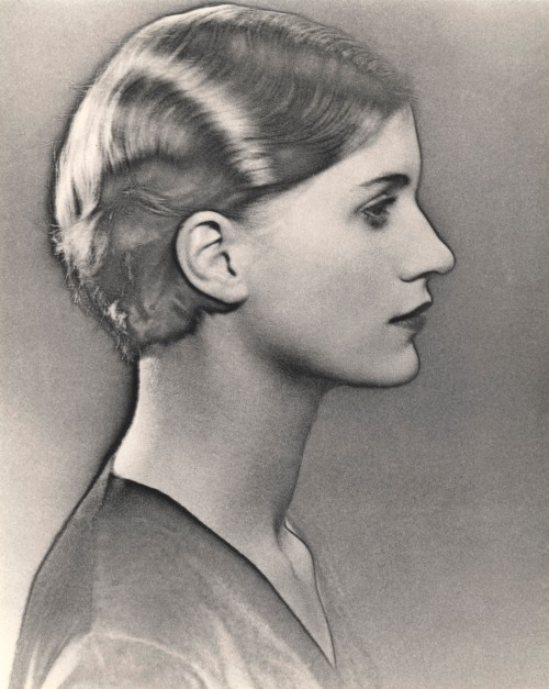 Solarized portrait of Lee Miller