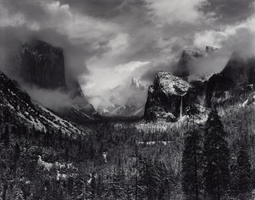 Clearing Winter Storm, Yosemite National Park, California, about 1937 Photograph by Ansel Adams. Image courtesy of David H. Arrington