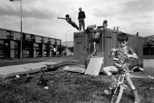 G.B. ENGLAND. Manchester. Moss Side Estate. 1986.