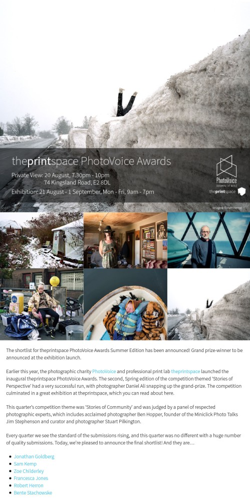 The shortlist for theprintspace PhotoVoice Awards... |.pdf